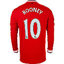 Nike Rooney Manchester United L/S Home Jersey 2014-15