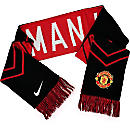 Nike Manchester United Supporter Scarf - Black