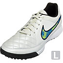 Nike Tiempo Genio TF Turf Shoes - White and Blue