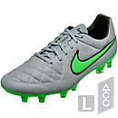 Nike Tiempo Legend V FG Soccer Cleats - Grey and Green