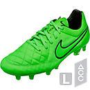 Nike Tiempo Legend V FG Soccer Cleats - Green Strike and Black