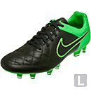 Nike Tiempo Legacy FG Soccer Cleats - Black and Green