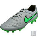Nike Tiempo Legacy FG Soccer Cleats - Grey and Greeen