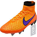 Nike Magista Obra SG-Pro Soccer Cleats - Orange and Red