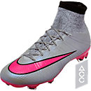 Nike Mercurial Superfly IV FG Soccer Cleats - Grey and Pink