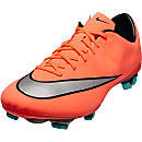 Nike Mercurial Veloce II FG Soccer Cleats - Bright Mango & Hyper Turquoise