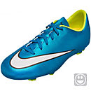 Nike Kids Mercurial Victory V FG Soccer Cleats  - Blue and Volt