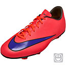 Nike Youth Mercurial Victory V FG Soccer Cleats - Red and Purple