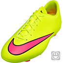Nike Kids Mercurial Victory V FG Soccer Cleats - Volt and Black