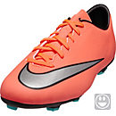 Nike Kids Mercurial Victory V FG Soccer Cleats - Bright Mango & Hyper Turquoise