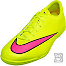 Nike Kids Mercurial Victory V Indoor Shoes - Volt and Black