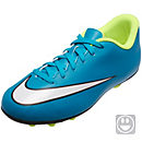 Nike Kids Mercurial Vortex II FG-R Soccer Cleats - Blue and Volt