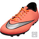 Nike Kids Mercurial Vortex II FG-R Soccer Cleats - Bright Mango & Hyper Turquoise