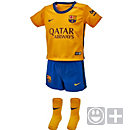 Nike Barcelona Infant Away Kit 2015-16