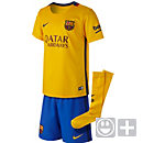 Nike Barcelona Lil Boys Away Kit 2015-16