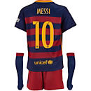 Nike Lionel Messi Barcelona Lil Boys Home Kit 2015