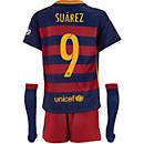 Nike Luis Suarez Barcelona Lil Boys Home Kit 2015