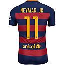 Nike Neymar Barcelona Home Match Jersey 2015