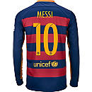 Nike Lionel Messi Barcelona Home L/S Jersey 2015
