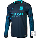 Nike Manchester City L/S Away Jersey 2015-2016