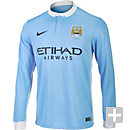 Nike Manchester City L/S Home Jersey 2015-2016