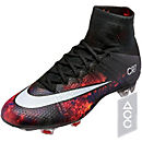 Nike Mercurial CR7 Superfly FG Soccer Cleats - Black & Total Crimson