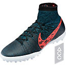 Nike Elastico Superfly TF Turf Shoes - Black and Red
