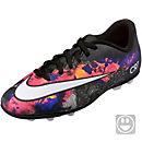 Nike Kids Mercurial CR7 Vortex II FG-R Soccer Cleats - Black & Total Crimson