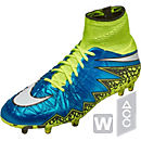 Nike Womens Hypervenom Phantom II FG Soccer Cleats - Blue Lagoon