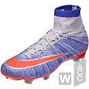 Nike Womens Mercurial Superfly FG Soccer Cleats - Blue Tint & Bright Mango