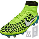 Nike Womens Magista Obra FG Soccer Cleats - Volt and White