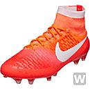 Nike Womens Magista Obra FG Soccer Cleats - Bright Crimson & White