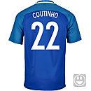 Nike Kids Philippe Coutinho Brazil Away Jersey 2016