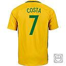 Nike Kids Douglas Costa Brazil Home Jersey 2016