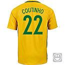 Nike Kids Philippe Coutinho Brazil Home Jersey 2016