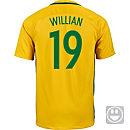 Nike Kids Willian Brazil Home Jersey 2016