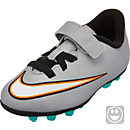 Nike Youth Mercurial Vortex II CR7 FG-R (Velcro) Soccer Cleats - Silver and Turquoise