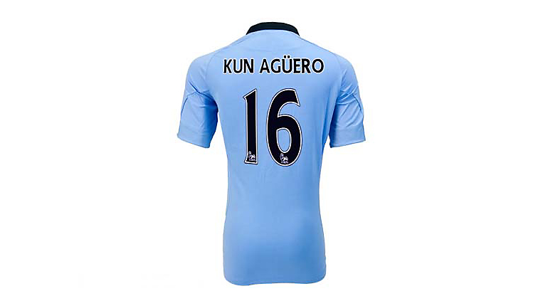 Umbro Manchester City Aguero Home Jersey 2012-2013