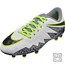 Nike Kids Hypervenom Phelon II FG Soccer Cleats - Pure Platinum & Black