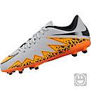 Nike Kids Hypervenom Phelon II FG Soccer Cleats - Grey and Black