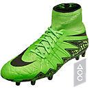 Nike Hypervenom Phantom II FG Soccer Cleats - Green and Black