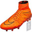 Nike Hypervenom Phantom II FG Soccer Cleats - Orange and Orange