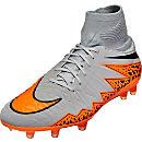 Nike Hypervenom Phatal II DF FG Soccer Cleats - Grey and Black