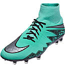 Nike Hypervenom Phatal II DF FG Soccer Cleats - Green Glow & Hyper Orange
