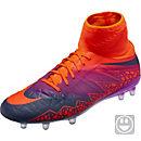 Nike Kids Hypervenom Phantom II FG Soccer Cleats - Total Crimson & Vivid Purple