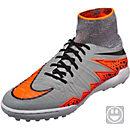 Nike Kids Hypervenom Proximo Street Turf Shoes - Wolf Grey & Total Orange