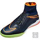 Nike Kids HypervenomX Proximo IC Soccer Shoes - Black & Total Orange