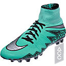 Nike Hypervenom Phantom II AG-R Soccer Cleats - Green Glow & Hyper Orange