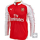 Puma Arsenal L/S Home Jersey 2015-2016