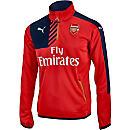 Puma Arsenal 1/4 Zip Training Top - High Risk Red & Black Iris